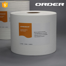 Lint free disposable multi-purpose industrial perforated roll wipes