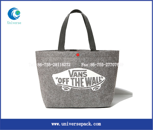 Tote Bag Printed Felt Shopping Made In China Factory Custom Bags