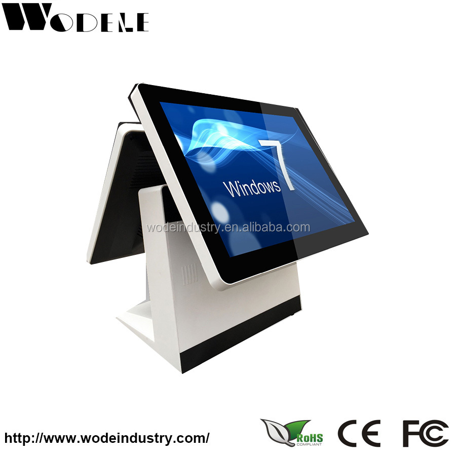 15 windows tablet pos / touch screen monitor with card reader and software