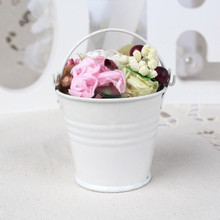 white metal gift items small metal flower buckets for Kids