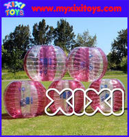Pink transparent inflatable bubble soccer ball,human inflatable bumper ball