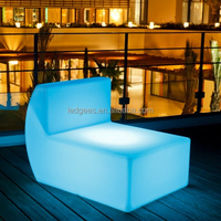 IP 68 Water proof PE materia WIFI White color led battery sofa furniture for indoor and out door event