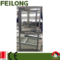 FLGR58 series aluminum side hinged window casement windows wih AS2047