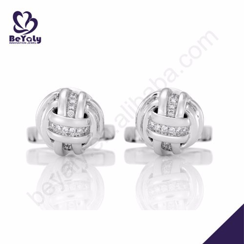 Beautiful knot design 925 sterling silver fashion earing