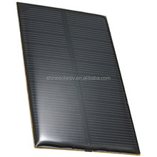 A-grade Monocrystalline 5V 1W customized shape PET or epoxy solar panel