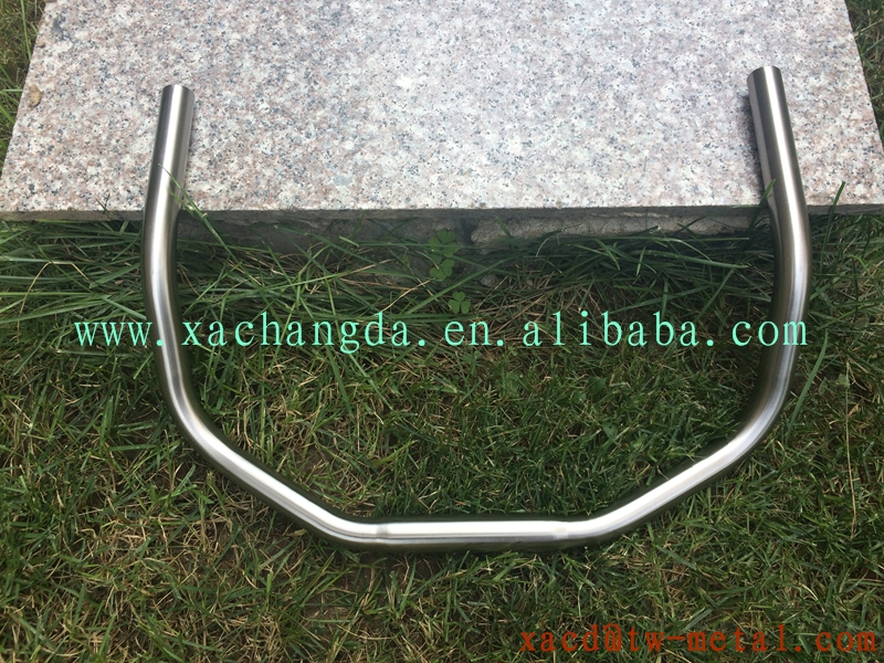 titanium bike bending handlebar with handing brush finished