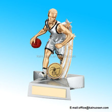 Resin Male Basketball 'Star Action' Figure Trophy