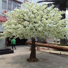 SJZZY Large outdoor artificial cherry blossom tree / fake cherry blossom tree / white cherry blossom tree