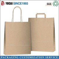 Promotional plain kraft paper bag with handle