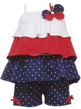Bulk wholesale in US 4th of July brace clothing set