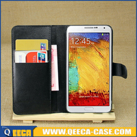Wholesale mobile phone leather flip case cover for samsung galaxy note3 neo n750 n7505