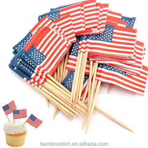 disposable party cocktail toothpicks flag cake picks