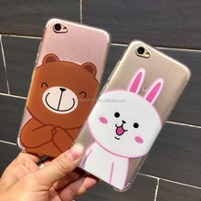 Frosted air press Cony & Honey Bear cartoon TPU cell phone case for Vivo X7,X7+,X9,X9+
