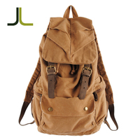 Vintage custom large capacity canvas backpack for travelling