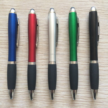Hot selling chepest plastic stylus pen with rubber grip