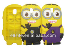 Galaxy Note 3 N9000 Minions Series 3D Silicone Cover Case