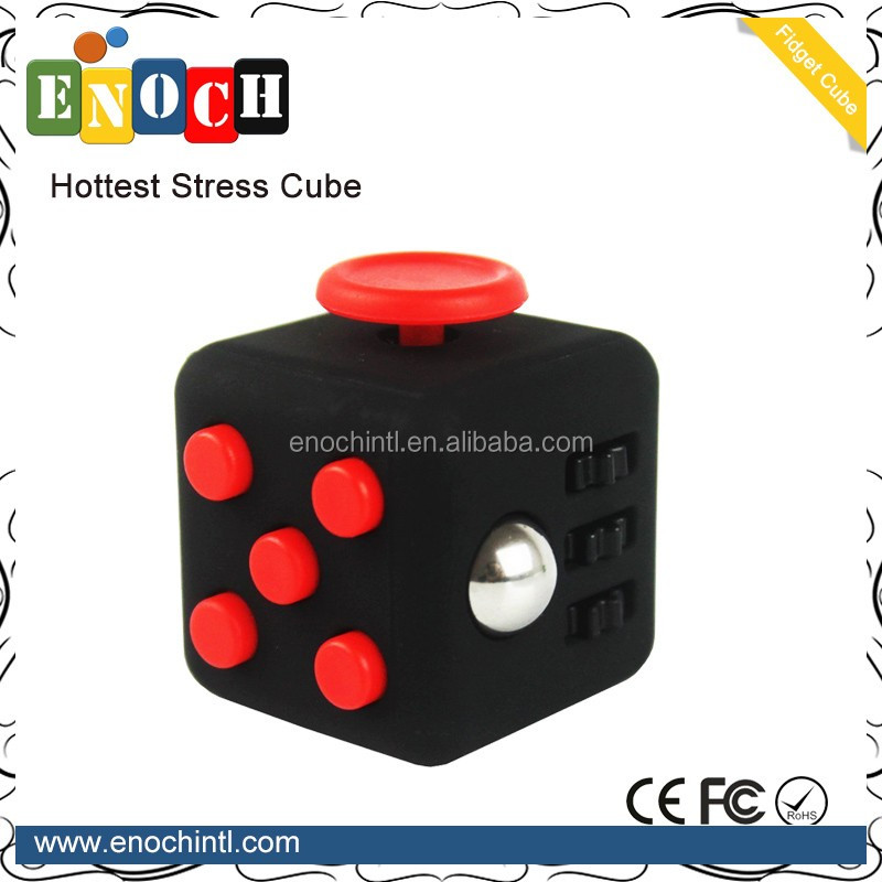 2017 Hot Selling 6 sides Fidget Cube Relieves Stress Game Hand Spinning Fidget for adults and childs