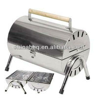 stainless steel twin grill,grill equipment for restaurant,rotating bbq grill