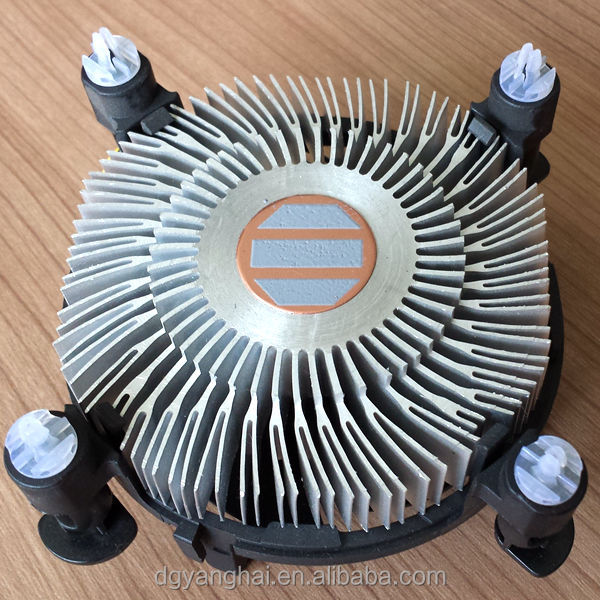lga 1150 aluminium cpu cooler fan with square heatsink