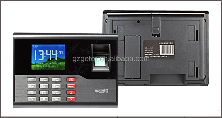 Hot sale fingerprint and RFID card time attendance color screen