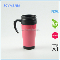 450ml Double Wall Plastic Travel Coffee Mug for promotion