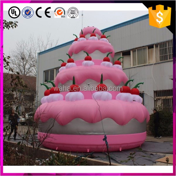 Factory direct sale replica model advertising giant inflatable birthday cake