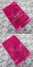 2015 top quality Satin Hair Extension Packaging hair bag