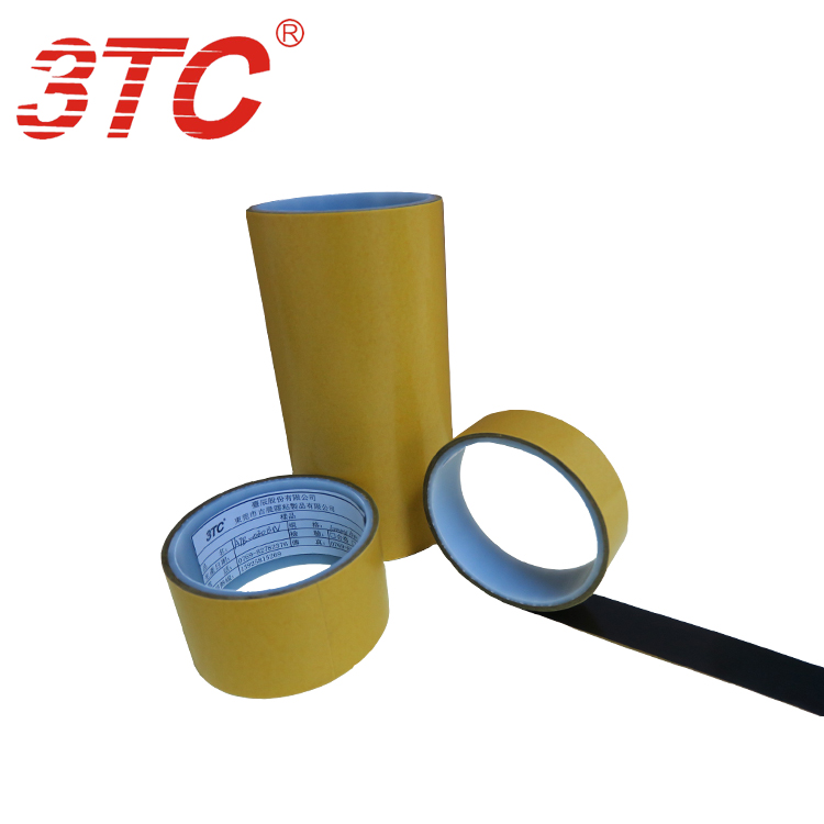 0.160mm Dongguan Jichen Strong anti shearing force Black translucent PET double tape Industrial tape