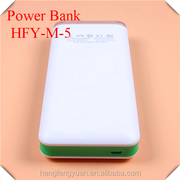 Hot selling Customized power bank Color: black, gray, blue, green and pink 3 USB charging port power station for phones