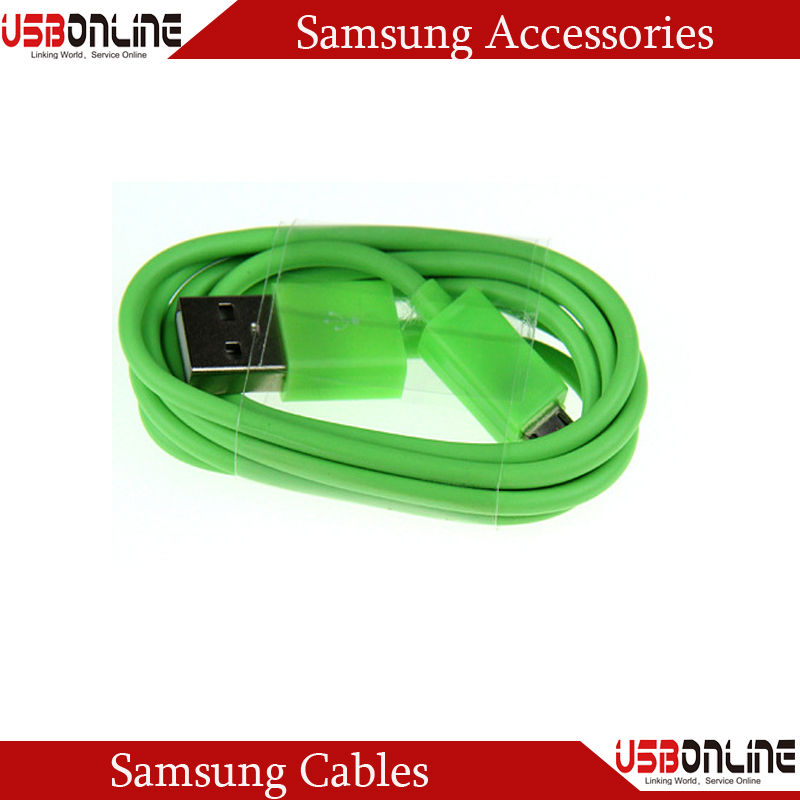 3.3FT/1M Green Micro USB Data Cable for Samsung Galaxy S4 S3 III Note 2 II I9500