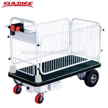 SR-105 Hand Cart Electric Platform Trolley With Wire Fence