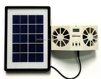 Rechargeable 2W Solar Powered Cooling Ventilation Car Air Cool Fan