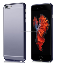 universal most attractive tpu clear phone accessories transparent electroplating mobile phone case for iphone 6 6s plus