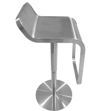 Triumph Luxury stainless stools Lem piston bar stool with stainless seat