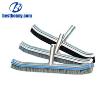 2018 PP or stainless steel swimming pool equipment pool product of pool cleaning brush
