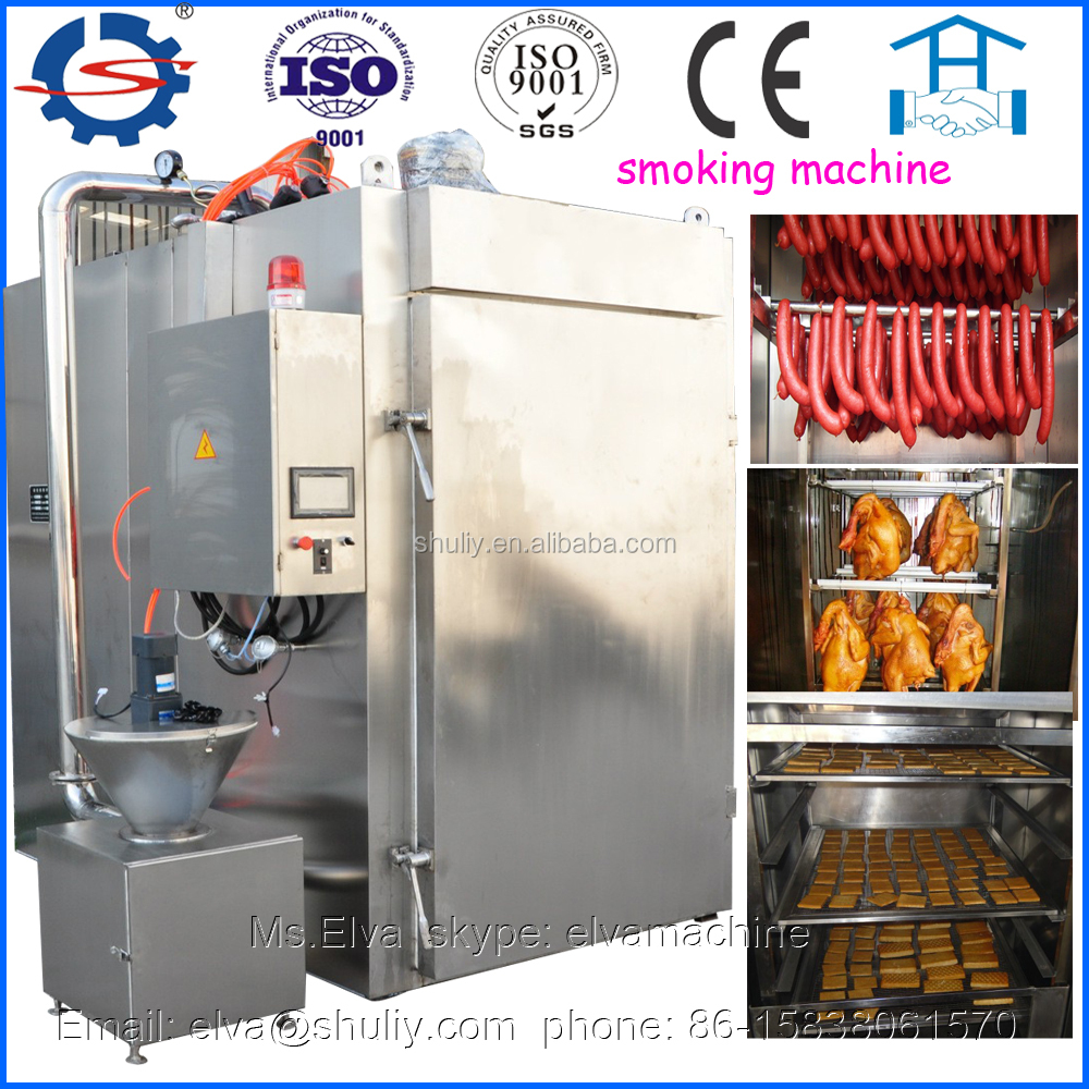 High efficient steam heating salmon fish cold smokehouse