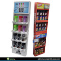 Hot sale cardboard beer bottle display shelf, cardboard tier display shelf