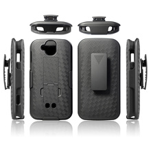High quality belt clip holster combo kickstand hard plastic cell phone case for Blackberry q10/ for kyocera dura force pro