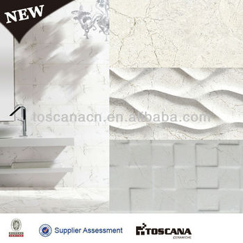 New Product 3d Inkjet Bathroom Ceramic Floor And Matching