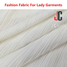 100% polyester ITY fabric pleated chiffon fabric price per meter