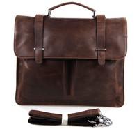 7100B China Manufacture Metal Vintage Cow Hide Leather Lawyer Laptop Briefcases For Men