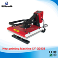 Flat 38*38cm high pressure heat transfer machine for T-shirt hot stamping drilling CY-G3838