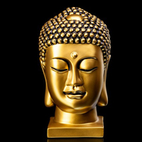 high quality gautam buddha statue with 24k gold face