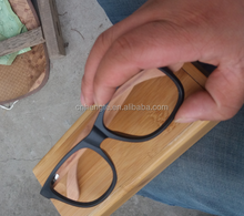 Full wood and bamboo sunglasses interchangeable legs