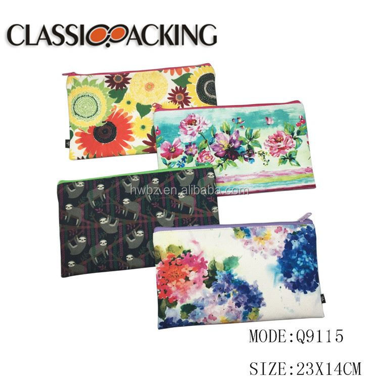 Factory directly sale toiletry kit customize print bag travel luggage cosmetic canvas bags