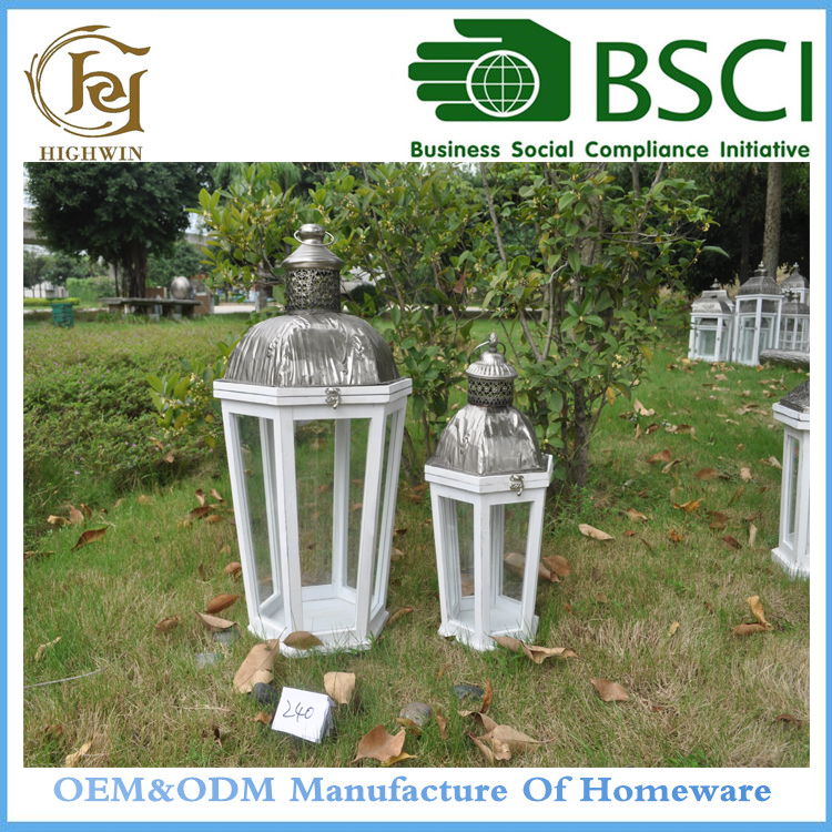 Decorative Wooden Iron box Lanterns for funerals