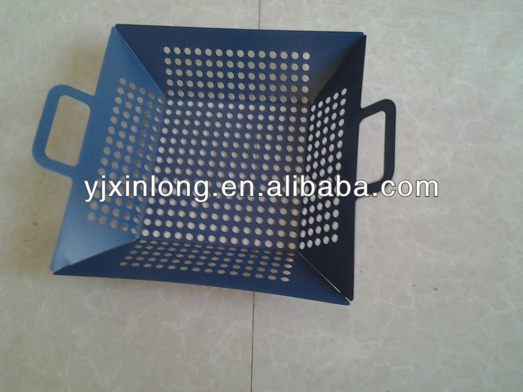 non-stick bbq basket with double side handle