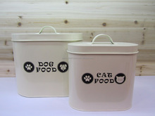 Three size /Pet Food Container Metal Storage Can Tool Bin/Canister