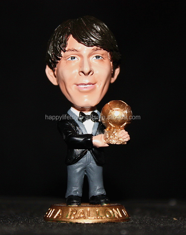 Custom famous soccer player miniature plastic human figure