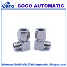 Male eblow tube crimp for copper pipe press stainless steel press fittings